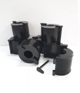 A Plastic Strainer with HDPE locking pins